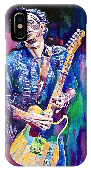 Music iPhone Case - Telecaster- Keith Richards by David Lloyd Glover