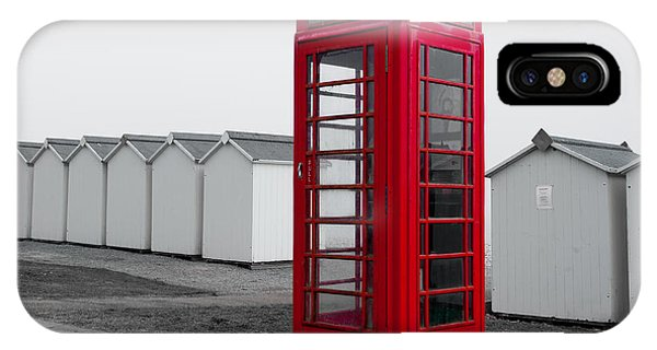 Telephone Box By The Sea I IPhone Case