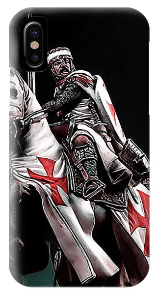 Templar Knight, Red Cross - 02 IPhone Case