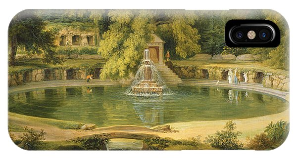 Temple Fountain And Cave In Sezincote Park IPhone Case