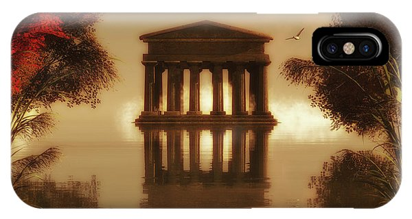 Temple In A Lake IPhone Case