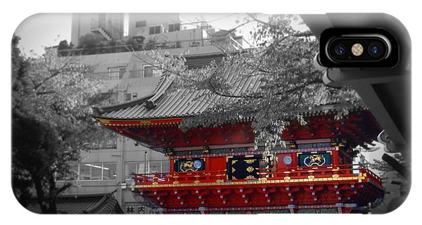 Temple iPhone Case - Temple In Tokyo by Naxart Studio
