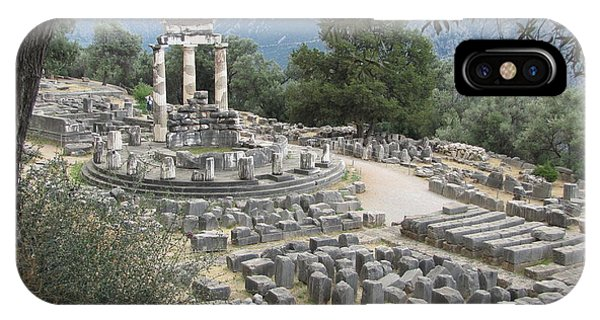 Temple Of Athena At Delphi IPhone Case