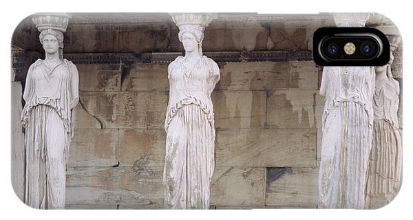 Greece iPhone X Case - Temple Of Athena Nike Erectheum by Panoramic Images