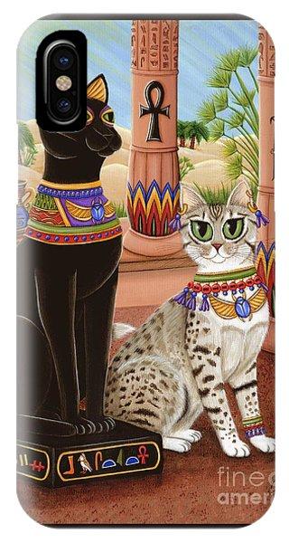 Temple Of Bastet - Bast Goddess Cat IPhone Case