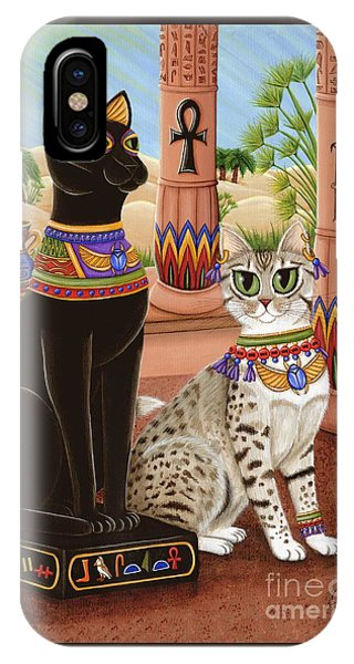 Temple Of Bastet - Bast Goddess Cat IPhone Case