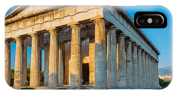 Greece iPhone X Case - Temple Of Hephaestus by Inge Johnsson