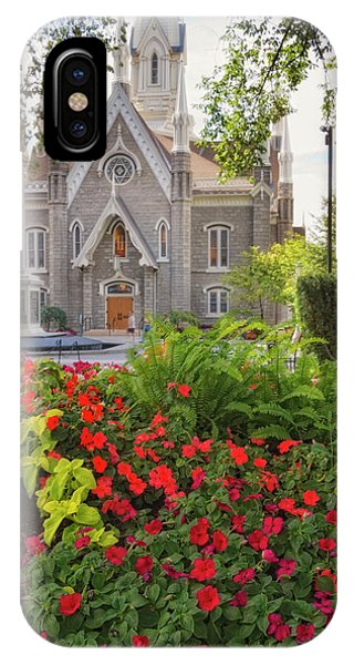 Temple Square Flowers IPhone Case