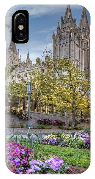Temple Square Salt Lalke City Utah IPhone Case