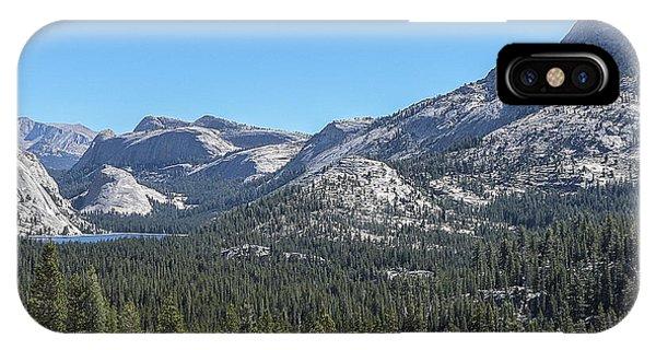 Tenaya Lake And Surrounding Mountains Yosemite National Park IPhone Case