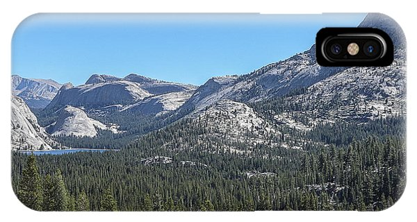 Tenaya Lake And Surrounding Mountains Yosemite National Park IPhone Case