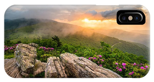 Appalachian Mountains iPhone Case - Tennessee Appalachian Mountains Sunset Scenic Landscape Photography by Dave Allen