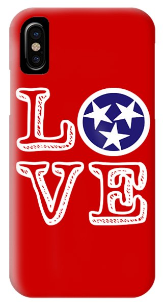 Tennessee Flag Love IPhone Case