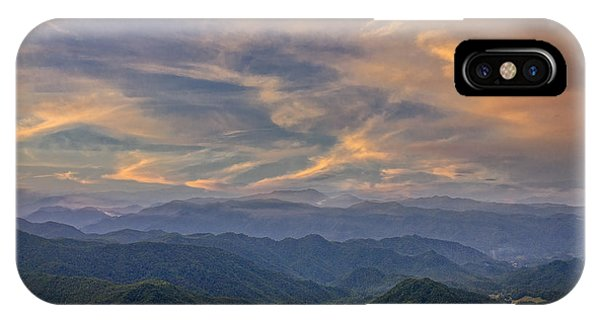 Tennessee Mountains Sunset IPhone Case