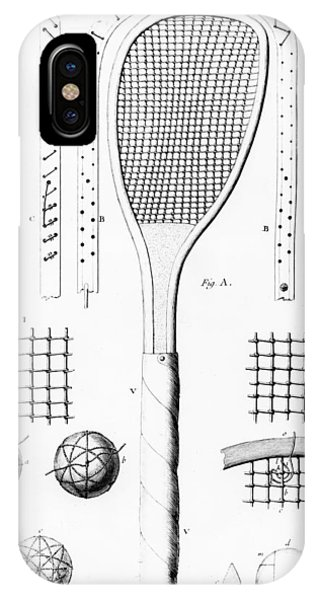 Racquet iPhone Case - Tennis Racket And Balls by French School
