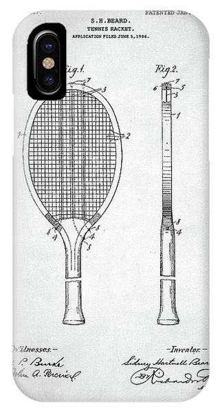 Tennis Racket Patent 1907 IPhone Case