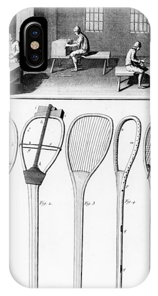 Racquet iPhone Case - Tennis Rackets by French School