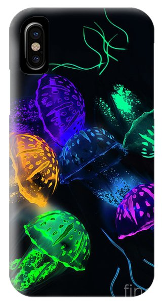 Neon iPhone Case - Tentacle Dance  by Jorgo Photography - Wall Art Gallery