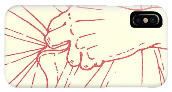 IPhone Case featuring the drawing Tenth Station- Jesus Is Stripped Of His Garments by William Hart McNichols