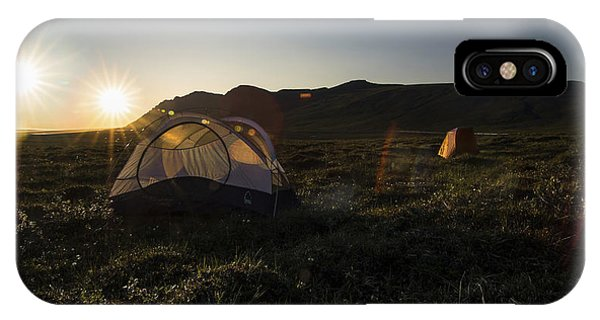 Tenting In The Midnight Sun IPhone Case