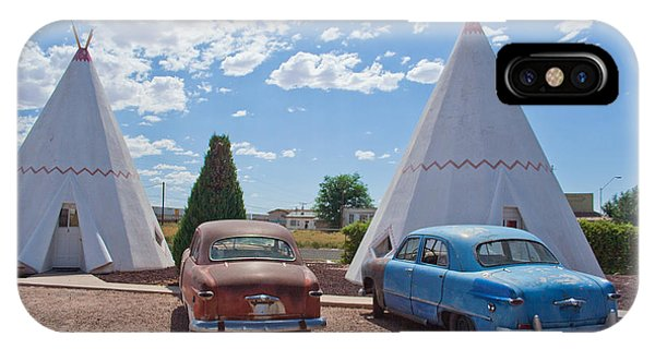 Tepee With Old Cars IPhone Case
