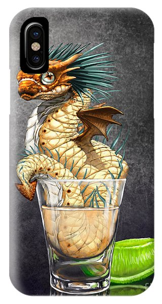 Dragon iPhone Case - Tequila Wyrm by Stanley Morrison