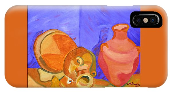IPhone Case featuring the painting Terra Cotta by Christopher M Farris