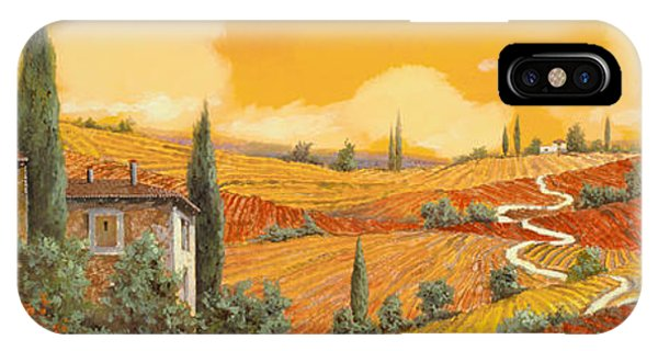 Arched iPhone Case - terra di Siena by Guido Borelli