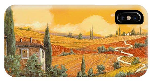 Sunflower iPhone X / XS Case - terra di Siena by Guido Borelli