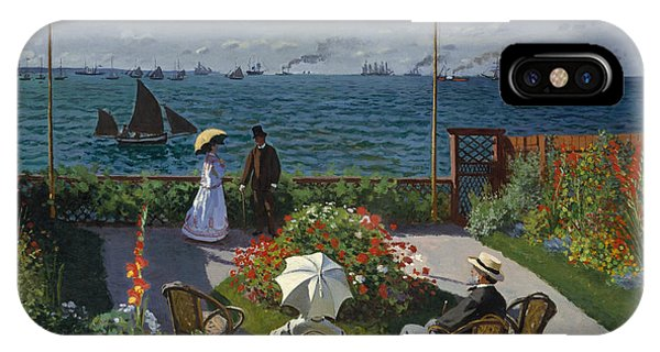French Painter iPhone Case - Terrace At Sainte-adresse by Claude Monet