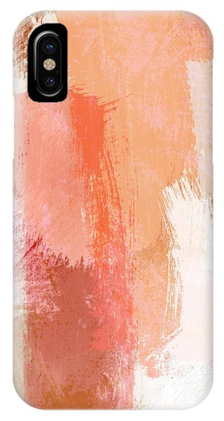 Texture iPhone Case - Terracotta Abstract- Art By Linda Woods by Linda Woods