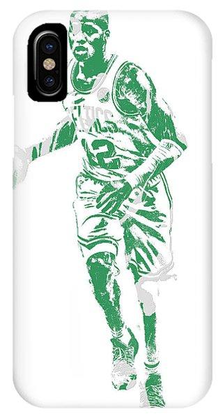 Celtics iPhone Case - Terry Rozier Boston Celtics Pixel Art 10 by Joe Hamilton