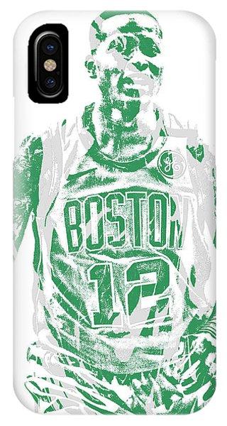 Celtics iPhone Case - Terry Rozier Boston Celtics Pixel Art 11 by Joe Hamilton