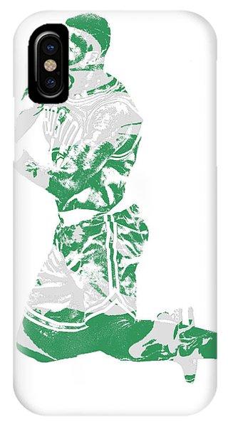 Celtics iPhone Case - Terry Rozier Boston Celtics Pixel Art 12 by Joe Hamilton