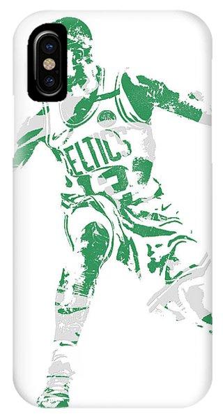 Celtics iPhone Case - Terry Rozier Boston Celtics Pixel Art 13 by Joe Hamilton