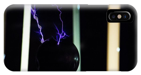 IPhone Case featuring the photograph Tesla Coil 3 by Tyson Kinnison
