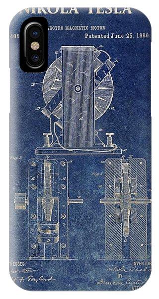 Tesla Electro Magnetic Motor IPhone Case