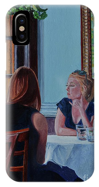 Table For Two iPhone Case - Tete A Tete by Anthony Butera