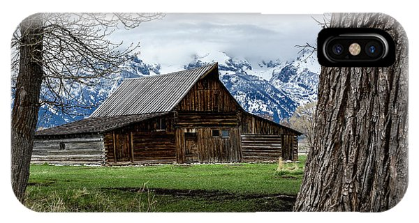 IPhone Case featuring the photograph Teton Barn #1 by Scott Read