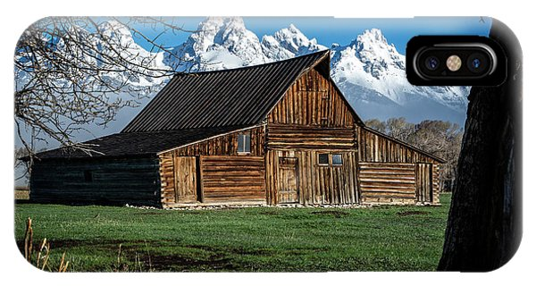 IPhone Case featuring the photograph Moulton Barn And Tetons by Scott Read
