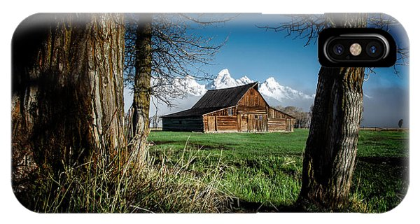 IPhone Case featuring the photograph Tetons And Moulton Barn by Scott Read