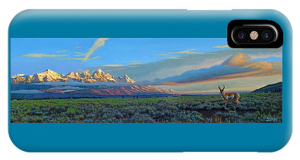 Teton iPhone Case - Teton Morning by Paul Krapf