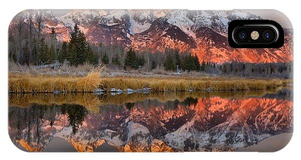 Teton Mountains Sunrise Rainbow IPhone Case