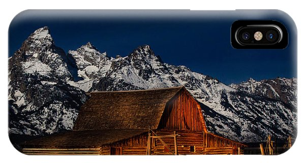 Teton Mountains With Barn IPhone Case