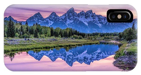 Sunset Teton Reflection IPhone Case