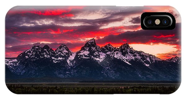 Teton iPhone Case - Teton Sunset by Darren White
