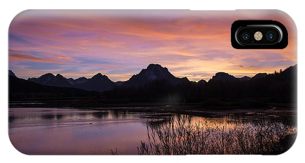 IPhone Case featuring the photograph Teton Sunset by Gary Lengyel