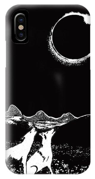 Teton Total Solar Eclipse IPhone Case