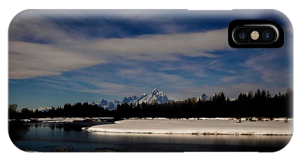 Tetons At Moonlight IPhone Case