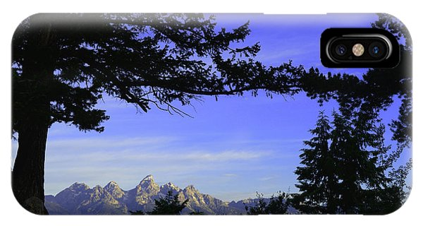 Tetons From The Wedding Trees IPhone Case